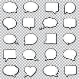 Sistema del discurso de la burbuja Foto de archivo libre de regalías