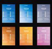 sistema del diseño colorido del aviador del vector fotos de archivo