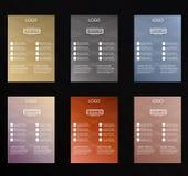 sistema del diseño colorido del aviador del vector fotos de archivo libres de regalías