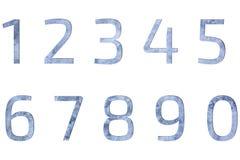 Sistema del diseño concreto gris número 1 del fondo Fotografía de archivo