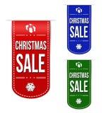 Sistema del diseño de la bandera de la venta de la Navidad Foto de archivo