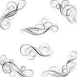 Sistema del diseño de la caligrafía Fotografía de archivo libre de regalías