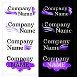 Sistema del diseño de la identidad de marca Logotipo de la lila Imagenes de archivo