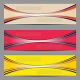 Sistema del diseño de las banderas Imagenes de archivo