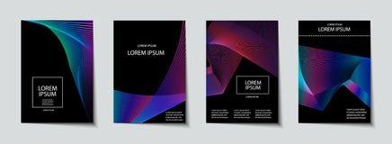 Sistema del diseño de las cubiertas Modelo abstracto, mínimo, geométrico Foto de archivo
