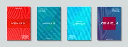 Sistema del diseño de las cubiertas Modelo abstracto, mínimo, geométrico Imagen de archivo