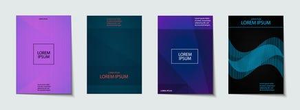Sistema del diseño de las cubiertas Modelo abstracto, mínimo, geométrico Imagen de archivo libre de regalías