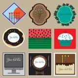 Sistema del diseño de las etiquetas Fotos de archivo libres de regalías