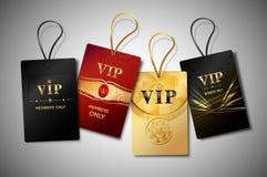 Sistema del diseño de las etiquetas del Vip Foto de archivo libre de regalías