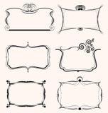 Sistema del diseño de las fronteras de los capítulos Imagen de archivo libre de regalías