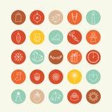 Sistema del diseño de los iconos Imagen de archivo