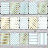 Sistema del diseño de tarjetas creativo Fotografía de archivo