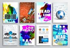 Sistema del diseño del aviador, diseños del folleto de Infographics libre illustration