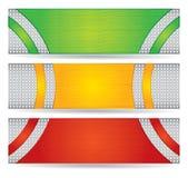 Sistema del diseño del jefe o de la bandera Fotografía de archivo libre de regalías