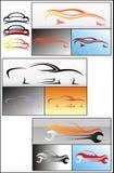 Sistema del diseño del logotipo del coche Fotografía de archivo libre de regalías