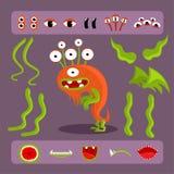 Sistema del diseño del monstruo de Halloween libre illustration