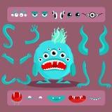 Sistema del diseño del monstruo de Halloween ilustración del vector
