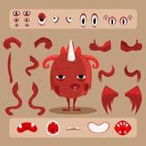 Sistema del diseño del monstruo de Halloween Imágenes de archivo libres de regalías