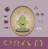 Sistema del diseño del monstruo de Halloween Imagen de archivo