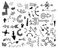 Sistema del doodle de la flecha Imagen de archivo libre de regalías