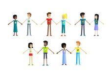 Sistema del ecologista Human Characters Illustrations Foto de archivo
