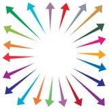 Sistema del ejemplo colorido de las flechas libre illustration