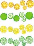 Sistema del ejemplo de frutas Foto de archivo libre de regalías