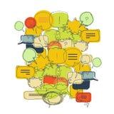 Sistema del ejemplo de la burbuja del texto stock de ilustración