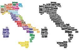 Mapas de la ciudad de Italia Imagen de archivo libre de regalías