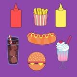 Sistema del ejemplo del vector de comida stock de ilustración