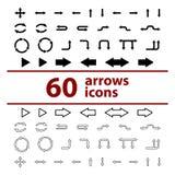 Sistema del ejemplo del vector de flechas de los iconos Stock de ilustración