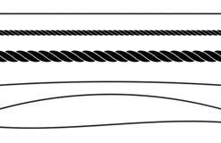 Sistema del ejemplo del vector del color del plano de la secuencia de la cuerda solo libre illustration