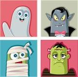 Sistema del ejemplo del vector de los caracteres de los monstruos de Halloween Fotos de archivo libres de regalías