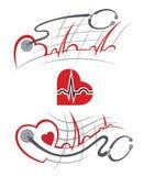 Sistema del electrocardiograma Foto de archivo libre de regalías