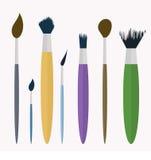 Sistema del elemento del cepillo Imagen de archivo libre de regalías