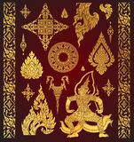 Sistema del elemento tailandés del arte, adornos decorativos Arte étnico, vec del icono libre illustration
