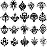 Sistema del emblema del damasco Fotografía de archivo libre de regalías