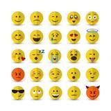 Sistema del emoji del vector Foto de archivo libre de regalías