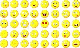 Sistema del emoticon de la historieta Foto de archivo libre de regalías