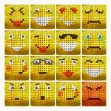Sistema del Emoticon del vector 3D Foto de archivo libre de regalías
