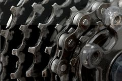 Sistema del engranaje de una bicicleta Imagen de archivo