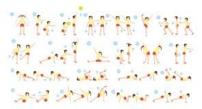 Sistema del entrenamiento de los niños ilustración del vector