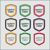 Sistema del escudo de la seguridad primero Fotografía de archivo libre de regalías