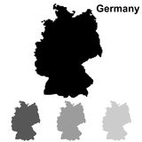 Sistema del esquema del mapa de Alemania Stock de ilustración