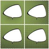 Sistema del estallido verde Art Retro Speech Bubble Imagen de archivo libre de regalías
