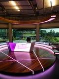 Sistema del estudio de la BBC Todo el club de los tenis sobre hierba y del croquet de Inglaterra Wimbledon, Reino Unido foto de archivo libre de regalías