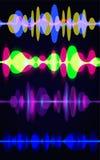 Sistema del extracto de la onda acústica del movimiento Ilustración del vector Aislado en fondo azul Ilustración del Vector