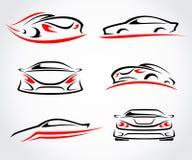 Sistema del extracto de los coches Vector Imagen de archivo libre de regalías