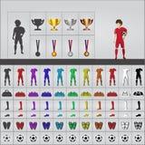 Sistema del fútbol Imagen de archivo libre de regalías