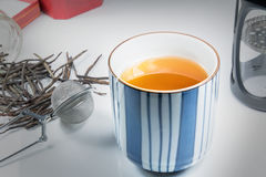 Sistema del fabricante de té Imágenes de archivo libres de regalías